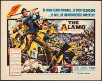 "The Alamo (United Artists, 1960). Rolled, Very Fine-. Half Sheet (22"" X 28""). Reynold Brown Artwork. Western..."