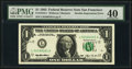 Fr. 1918-L $1 1993 Federal Reserve Note. PMG Extremely Fine 40