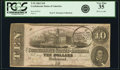 Confederate Notes:1862 Issues, T52 $10 1862 PF-1 Cr. 369 PCGS Very Fine 35.. ...
