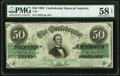 Confederate Notes:1862 Issues, T50 $50 1862 PF-19 Cr. 362 PMG Choice About Unc 58 EPQ.. ...