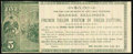 Obsoletes By State:Michigan, Battle Creek, MI- Mme. Kellogg $5 Advertising Note ND (ca. 1870s) Lee BAT-2 Very Fine. ...