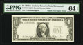 Error Notes:Third Printing on Reverse, Fr. 1910-E $1 1977A Federal Reserve Note. PMG Choice Uncirculated 64 EPQ.. ...