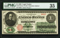 Large Size:Legal Tender Notes, Fr. 16 $1 1862 Legal Tender PMG Choice Very Fine 35.. ...