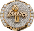 Basketball Collectibles:Others, 2009 Los Angeles Lakers NBA Championship Ring Presented to Forward Lamar Odom....
