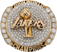 2009 Los Angeles Lakers NBA Championship Ring Presented to Forward Lamar Odom