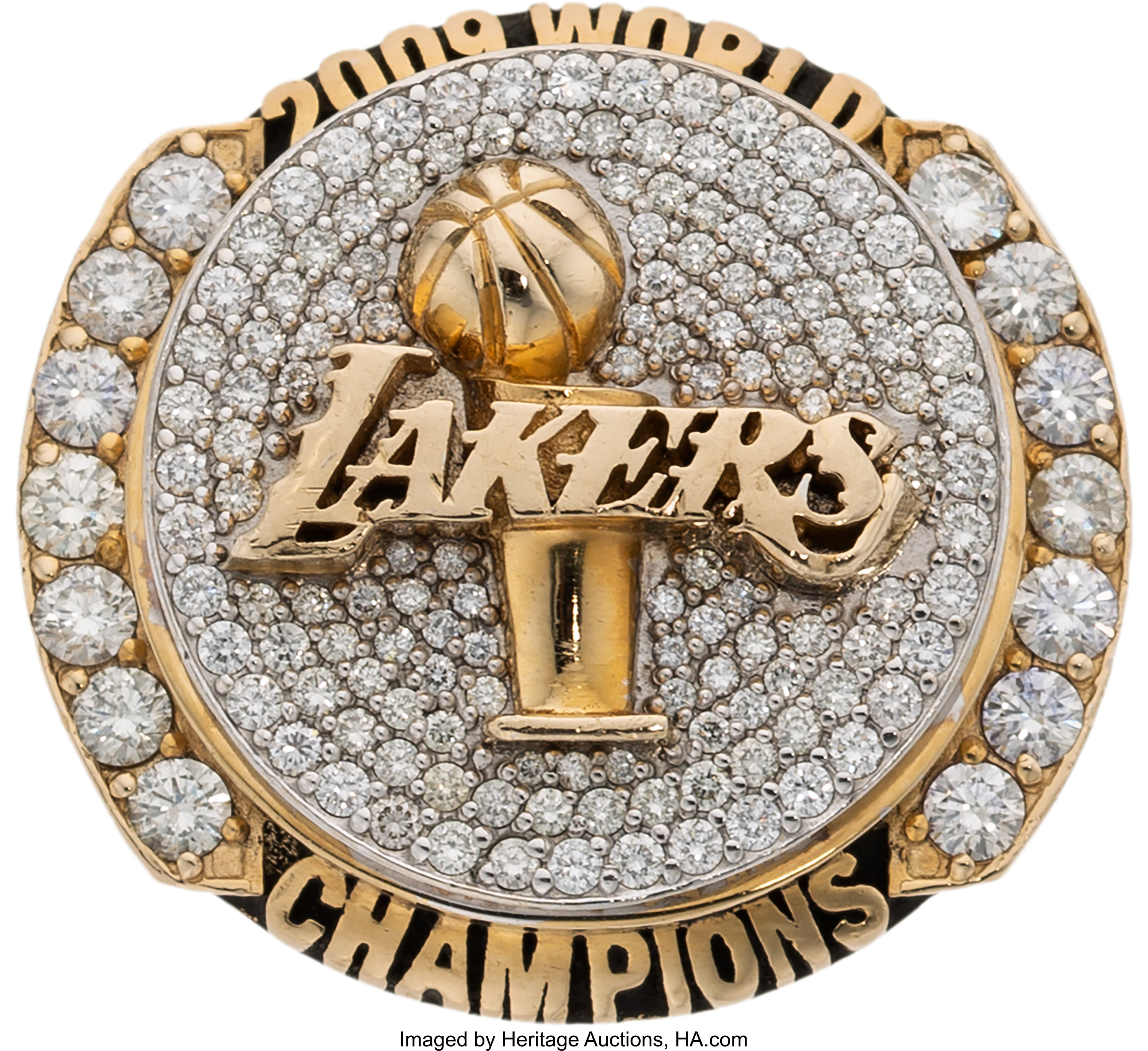 2009 Los Angeles Lakers Nba Championship Ring Presented To Forward Lot 50122 Heritage Auctions