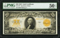 Large Size:Gold Certificates, Fr. 1187 $20 1922 Gold Certificate PMG About Uncirculated 50 EPQ.. ...