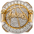 Basketball Collectibles:Others, 2010 Los Angeles Lakers NBA Championship Ring Presented to Forward Lamar Odom....