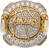 2010 Los Angeles Lakers NBA Championship Ring Presented to Forward Lamar Odom