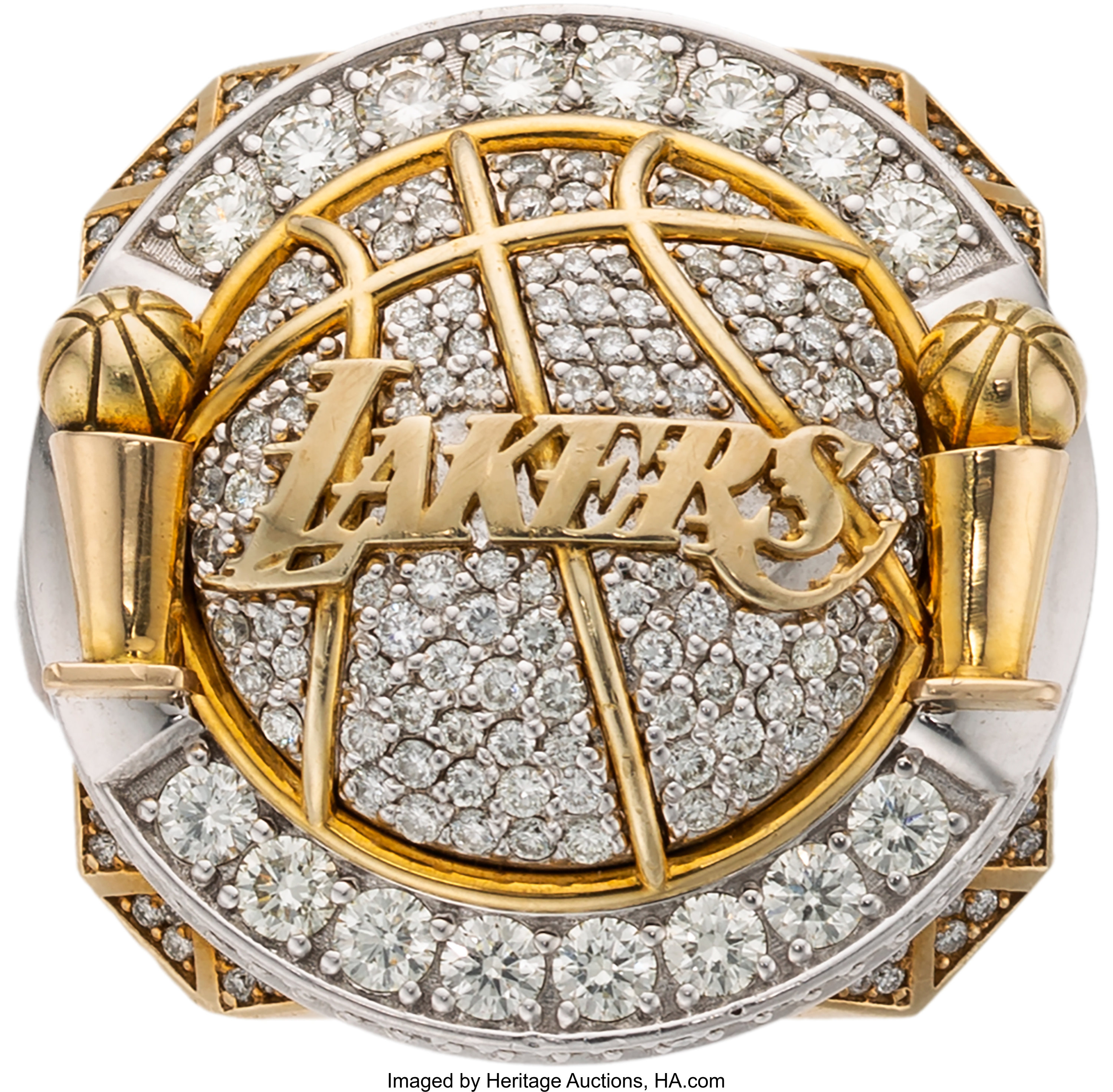 2010 Los Angeles Lakers Nba Championship Ring Presented To Forward Lot 50123 Heritage Auctions