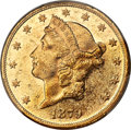 Liberty Double Eagles, 1879 $20 MS60 Prooflike PCGS....