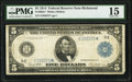 Fr. 863a* $5 1914 Federal Reserve Note PMG Choice Fine 15