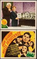 "Movie Posters:Comedy, Andy Hardy Meets Debutante & Other Lot (MGM, 1940). Overall: Fine+. Title Lobby Card & Lobby Card (11"" X 14""). Comedy.. ... (Total: 2 Items)"