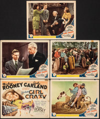 """Girl Crazy (MGM, 1943). Fine. Title Lobby Card & Lobby Cards (4) (11"""" X 14""""). Musical. ... (Total: 5 Items..."""
