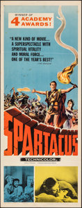 """Movie Posters:Action, Spartacus (Universal International, R-1961). Folded, Fine/Very Fine. Insert (14"""" X 36"""") Academy Award Style. Action.. ..."""