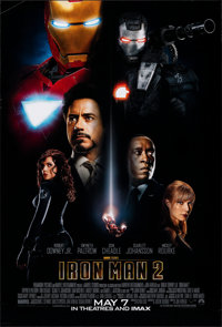 "Iron Man 2 (Paramount, 2010). Rolled, Very Fine. One Sheet (27"" X 40"") DS Advance. Science Fiction"