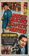 Movie Posters:Crime, Boston Blackie's Chinese Venture (Columbia, 1949). Folded,...
