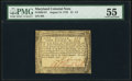 Colonial Notes:Maryland, Maryland August 14, 1776 $1 1/3 PMG About Uncirculated 55.. ...