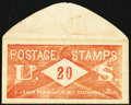Miscellaneous:Other, J. Leach 86 Nassau ST N.Y. Stationary 20 Cents. PE395. Extremely Fine.. ...