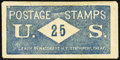 Postage Stamp Envelope J. Leach, 86 Nassau St, NY, Stationery Cheap 25 Cents PE-423 Extremely Fine