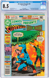 DC Comics Presents #26 Superman and Green Lantern (DC, 1980) CGC VF+ 8.5 Off-white to white pages