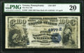 National Bank Notes:Pennsylvania, Verona, PA - $100 1882 Date Back Fr. 567 The First National Bank Ch. # (E)4877 PMG Very Fine 20.. ...