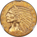 Indian Half Eagles, 1911-D $5 MS61 NGC....