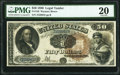 Large Size:Legal Tender Notes, Fr. 156 $50 1880 Legal Tender PMG Very Fine 20.. ...