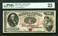 Fr. 154 $50 1878 Legal Tender PMG Very Fine 25
