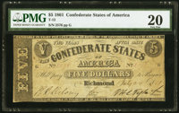 T12 $5 1861 PF-1 Cr. 47 PMG Very Fine 20