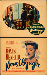 "Now, Voyager (Warner Bros., 1942). Fine/Very Fine. Title Lobby Card & Lobby Card (11"" X 14""). Romance..."