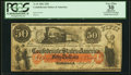 Confederate Notes:1861 Issues, T15 $50 1861 PF-1 Cr. 79 PCGS Apparent Very Fine 30, CC.. ...
