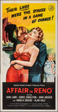 Movie Posters:Crime, Affair in Reno & Other Lot (Republic, 1957). Folded, Very ...