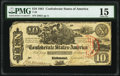 Confederate Notes:1861 Issues, T29 $10 1861 PF-1 Cr. 237 PMG Choice Fine 15.. ...