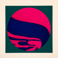 Jack Youngerman (b. 1926) Untitled, 1974 Serigraph in colors on wove paper 31-1/2 x 31-1/2 inches