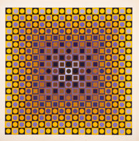 Victor Vasarely (1906-1997) Permutations Alom, 1968 Screenprint in colors on paper 27 x 27 inches