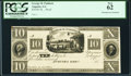 Obsoletes By State:Georgia, Augusta, GA- George H. Paddock $10 18__ Proof PCGS New 62.. ...