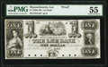 Lee, MA- Lee Bank $1 18__ G4a Proof PMG About Uncirculated 55
