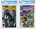 Modern Age (1980-Present):Superhero, Spectacular Spider-Man #101 and 146 Group (Marvel, 1985-89) CGC NM/MT 9.8.... (Total: 2 Comic Books)