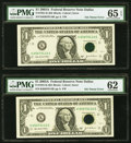 Error Notes:Inking Errors, Fr. 1931-G $1 2003A Federal Reserve Notes. Five Examples. PMG Graded.. ... (Total: 5 notes)