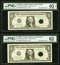 Fr. 1931-G $1 2003A Federal Reserve Notes. Five Examples. PMG Graded. ... (Total: 5)