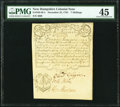 Province of New Hampshire December 25, 1734 Portsmouth Merchants' Note 7 Shillings Fr. NH-38.4. PMG Choice Extremely Fin...