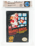 Video Games:Nintendo, Super Mario Bros. [Oval SOQ R, Later Release] Wata 6.0 B Sealed NES Nintendo 1985 USA....