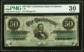 Confederate Notes:1862 Issues, T50 $50 1862 PF-18 Cr. 361A PMG Very Fine 30.. ...