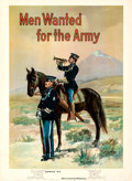 Movie Posters:War, Recruiting Poster (U.S. Army, 1910s). Fine+ on Linen.