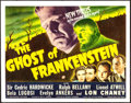 Movie Posters:Horror, The Ghost of Frankenstein (Universal, 1942). Fine+.