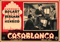 "Casablanca (Warner Bros., 1946). Fine/Very Fine. First Post-War Release Horizontal Italian Photobusta (19"" X 13.5&q..."