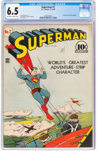 Superman #7 (DC, 1940) CGC FN+ 6.5 Off-white to white pages