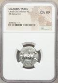 Ancients: CALABRIA. Tarentum. Ca. early 3rd century BC. AR stater or didrachm (21mm, 12h). NGC Choice VF