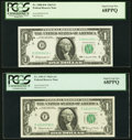 High Grade $1 Federal Reserve Notes Twenty-two Examples PCGS Graded